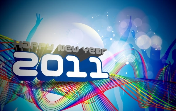 Free Happy New Year 2011 Template