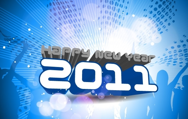 Free Vectors: Happy New Year 2011 Template 2 | 1freetemplates