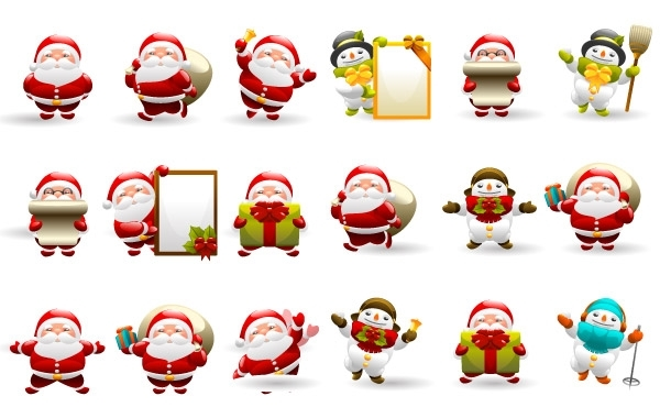 Free Christmas Santa Icon Set