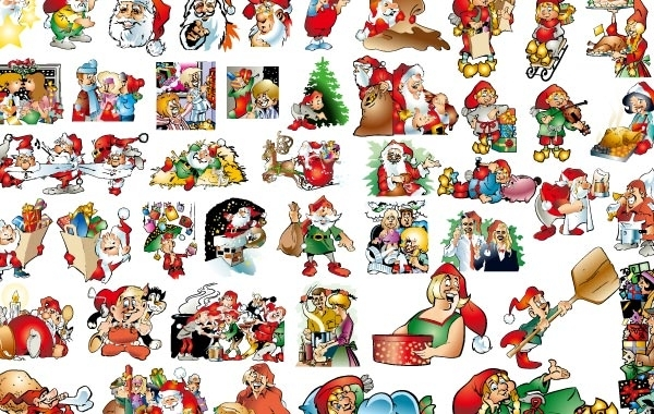 Free 46 lovely Christmas vector illustration background material