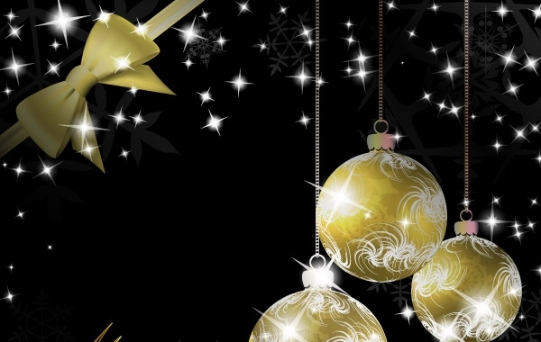 Free Gold Christmas vector elements 25