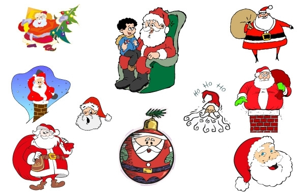 Free Simple Santa Vector Collection