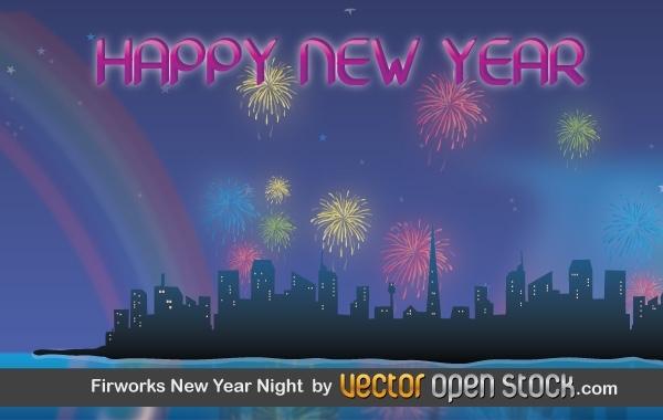 Free Fireworks New Year Night