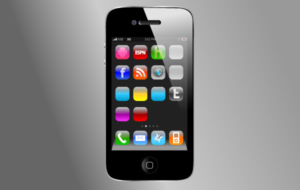 Free iPhone4 Vector without App Vectors