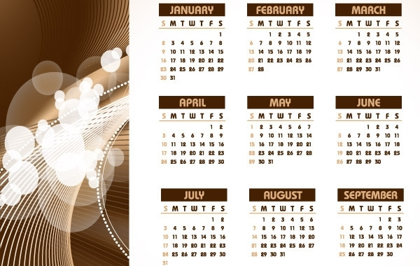 Free 2011 TABLE CALENDAR TEMPLATE VECTOR DESIGN COREL DRAW CDR ILLUSTRATOR EPS
