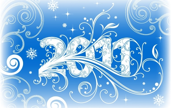 Free NEW YEAR BANNER 2011 VECTOR ADOBE ILLUSTRATOR CS4 AI DESIGN TUTORIAL