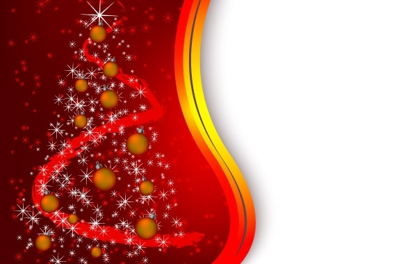 Free Red tree christmas background