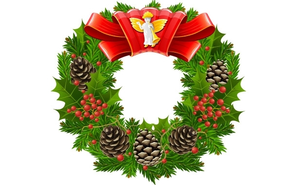 Free Christmas wreath