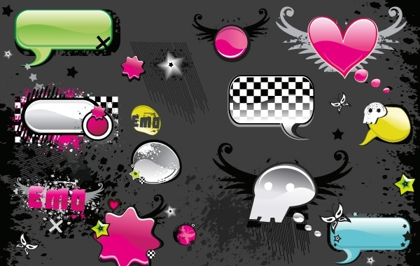 Free VECTOR MATERIAL ELEMENTS OF THE TREND WEB2.0