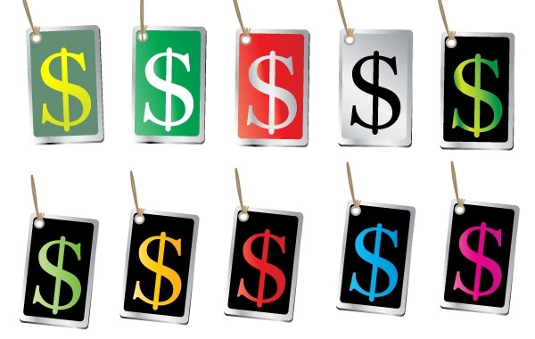 Free FREE VECTORS OF MONEY SIGN TAGS