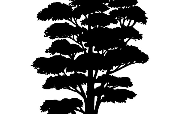 Free Tree Silhouettes clip art