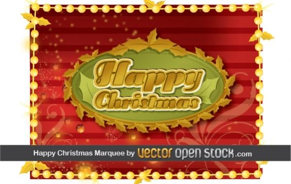 Free Happy Christmas Frame