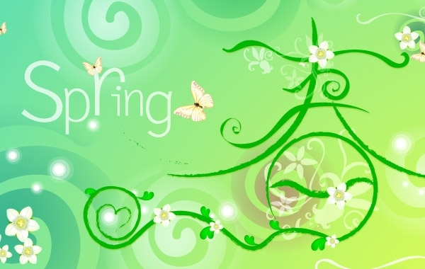 Free VECTOR SPRING THEME MATERIAL-2