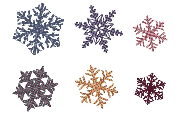 Free Quilted Snowflakes 9