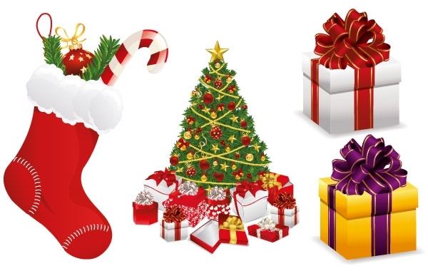 Free Merry Christmas Design Elements Vector Set