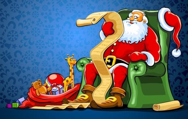 Free Christmas Santa Vector