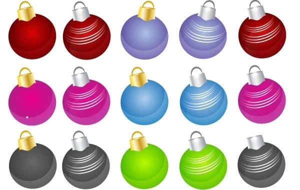 Free 24 Free Christmas Vector Balls