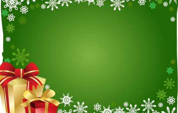 Free FREE VECTOR CHRISTMAS GIFT AND BACKGROUND