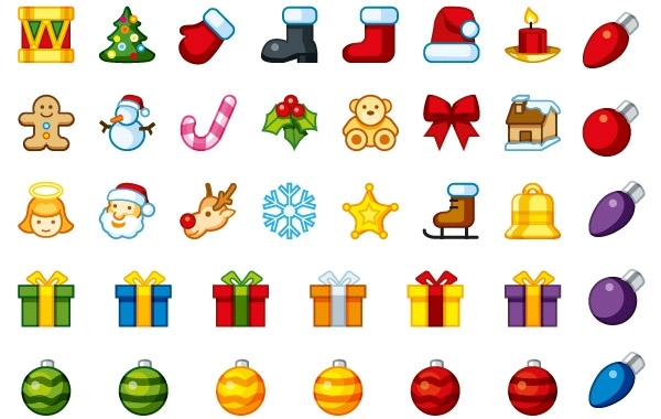 Free Vectors: Christmas Holiday Icons | icondock
