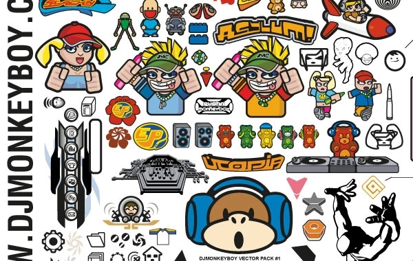 Free Vectors: Mixed Characters and Other Stuff Free Vectors | djmonkeyboy