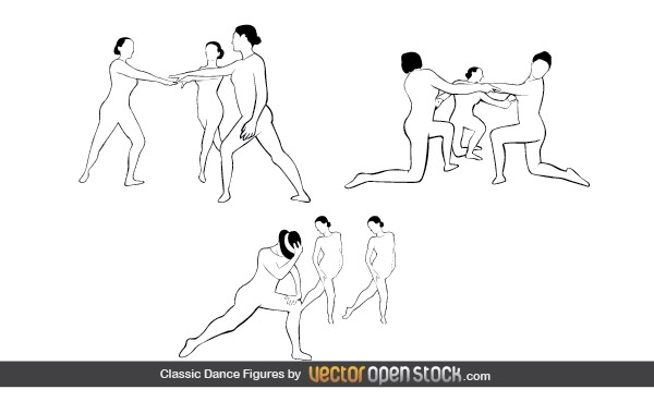Free Vectors: Classic Dance Figures | Vector Open Stock