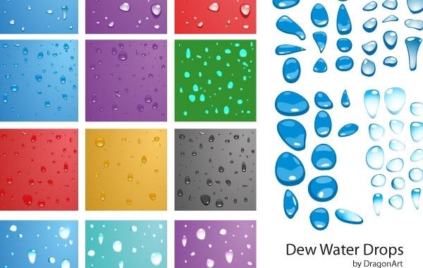Free Free Vector - Dew water drop
