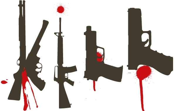 Free Bloody Guns free vector