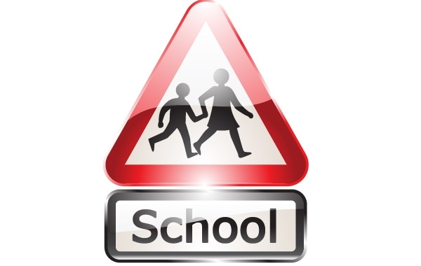 Free Glossy shiny school signs