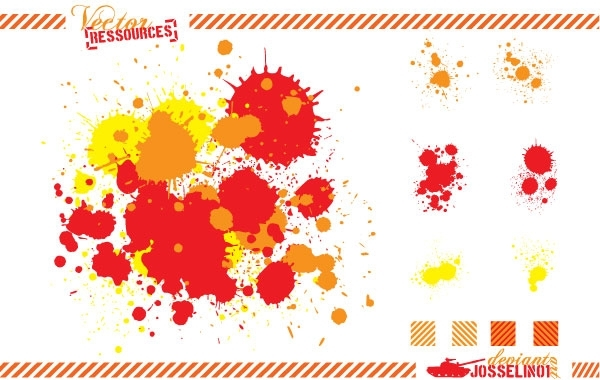 Free Splats and hatching free vector