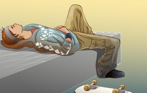 Free Skateboarding vector 10