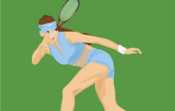 Free Tennis sport vector 2