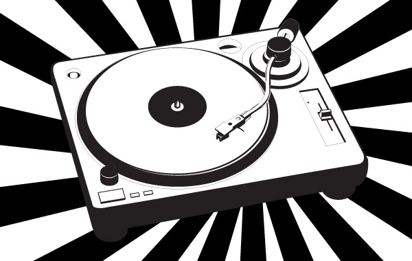 Free Music turntable vector