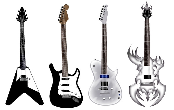 Free Guitar free vector pack - Different shape