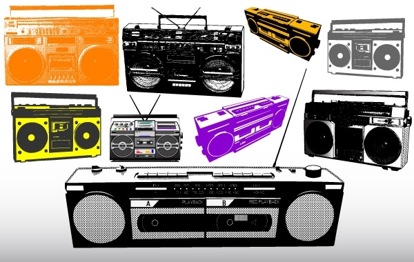 Free Different Radio & Music System Vectors