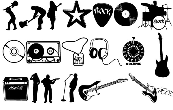 Free Rock vector set