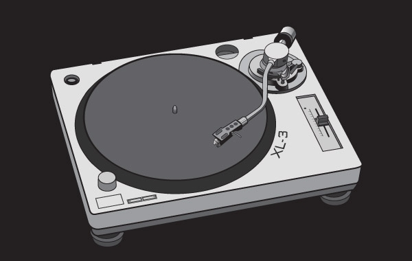 Free Free vector turntable