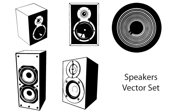 Free Speakers vector set