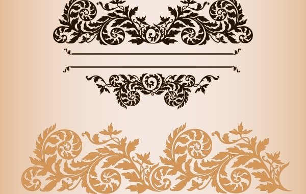 Free Practical fashion exquisite lace pattern vector material