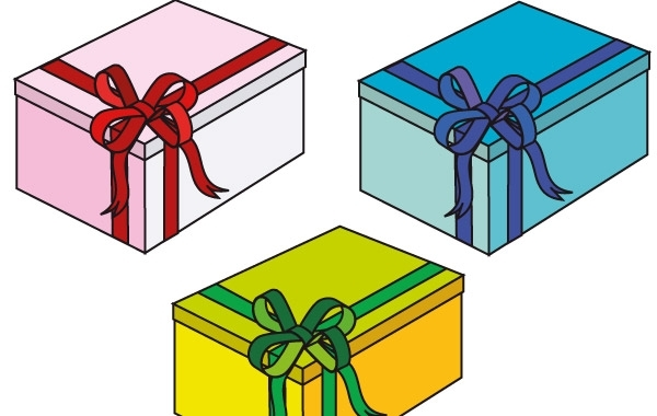 Free Pink, blue and green gift Boxes