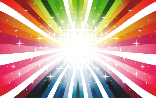 Free Colorful Rays Vector