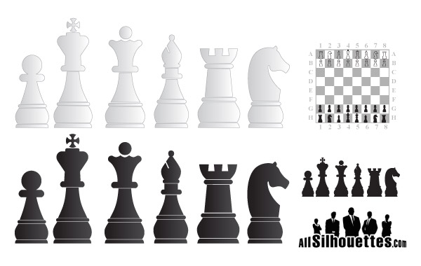 Free Chess objects free vector