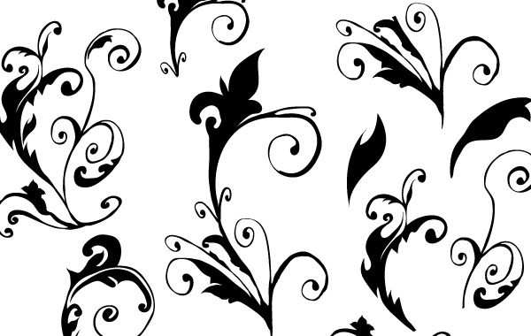 Free Curly hand made free vector
