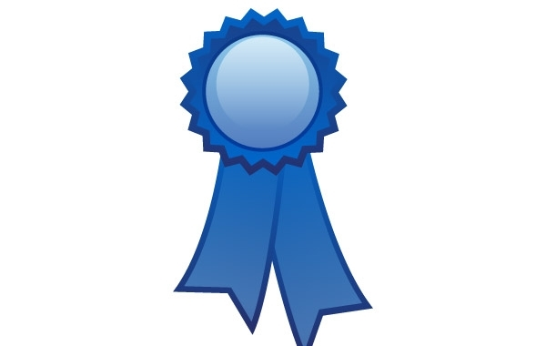 Free Blue ribbon decoration free vector
