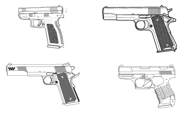 Free Free vector set of guns