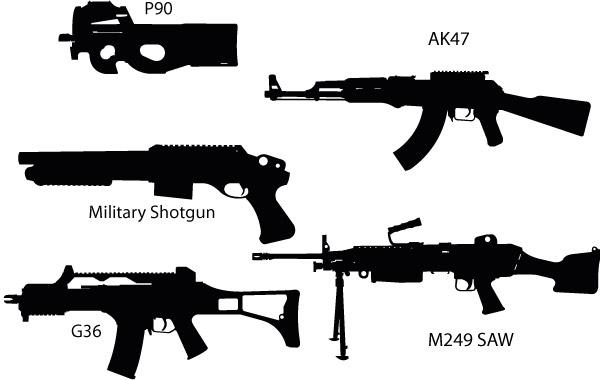 Free Gun Silhouettes