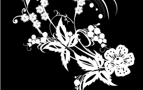 Free Black &White Flower Decoration
