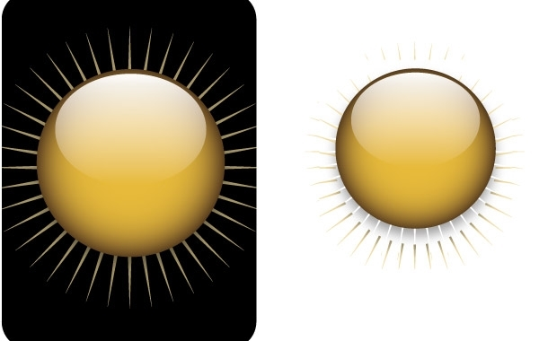 Free Gold button free vector