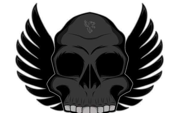 Free Winged skull free vector