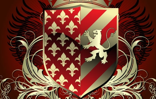 Free Vectors: Heraldic shield | Bazaar Designs