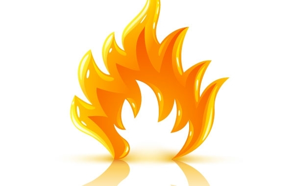 Free Vectors: Glossy burning fire flame | Bazaar Designs